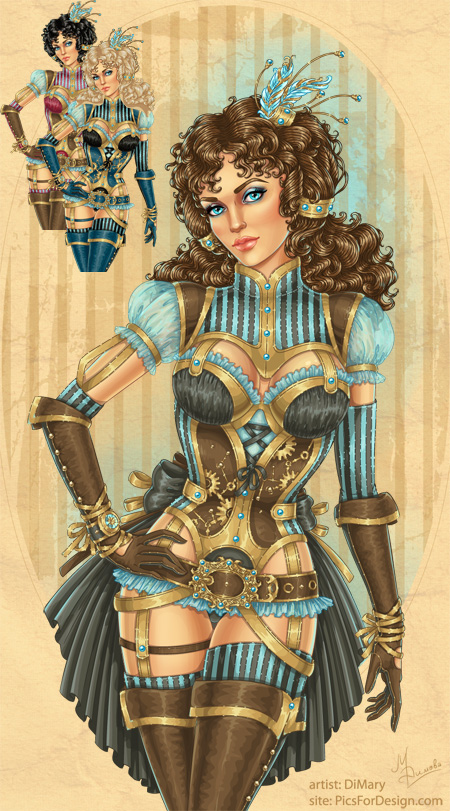 Steampunk girl by DiMary